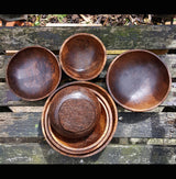 Coconut Wood 7 Set Serving Bowls,Serving Dishes,Wooden Serving Platter - AsianWoodCraftUK