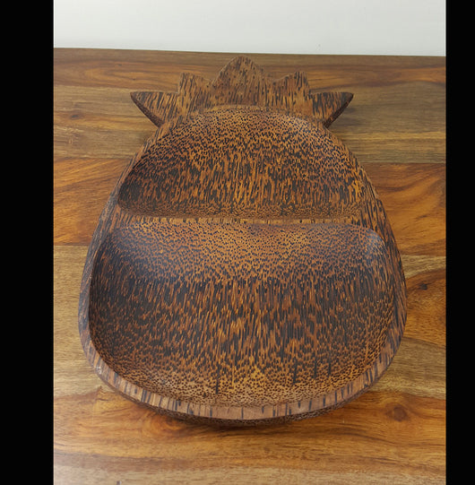 Coconut Wood,Palm Wood pineapple serving dish/tray - AsianWoodCraftUK