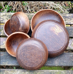 Coconut Wood 6 Set Serving Bowls,Serving Dishes,Wooden Serving Platter