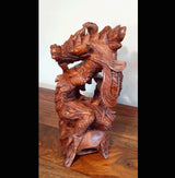Hand Carved Suar Wood Feng Shui Dragon 01 - AsianWoodCraftUK