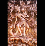 Master Carved Lovers and Deer,Hand Carved Relief Wall Panel.Wall Art - AsianWoodCraftUK