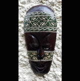 Hand Painted Hand Etched 30cm Batik Style Wall Mask
