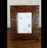 Large Teak Wood Tiled Photo Frame - AsianWoodCraftUK