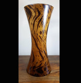 Mango wood hour glass large vase - AsianWoodCraftUK