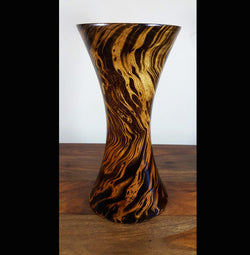 Mango wood medium hour glass vase - AsianWoodCraftUK