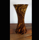 Mango wood medium hour glass vase