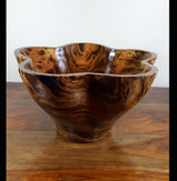 Mango wood deep star bowl - AsianWoodCraftUK