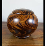 Mango wood large storage pot