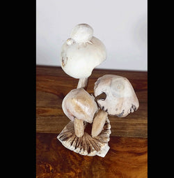 Carved Parasite Mushrooms with Ladybird Carving - AsianWoodCraftUK