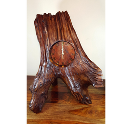 xxl heavy weight teak rustic clock for rustic home