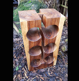 Teak Root Block 6 Bottle Wine Rack Holder - AsianWoodCraftUK
