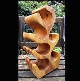 Teak Root 6 Bottle Wine Rack Holder - AsianWoodCraft.com