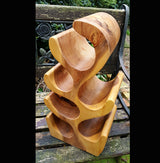Teak Root 6 Bottle Wine Rack Holder - AsianWoodCraftUK