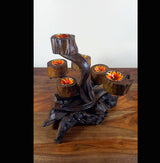 Teak Root And Jungle Vine Tea Light Holder - AsianWoodCraftUK