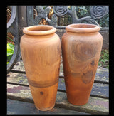 Teak Root Twin Vase Set - AsianWoodCraftUK