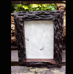 Reclaimed wooden rustic photo frames