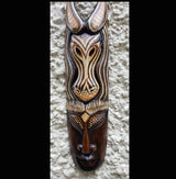 Hand Painted Zebra Jungle Style Wall Mask - AsianWoodCraftUK