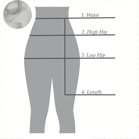CA Fitness Apparel, Measurements for a custom-fit