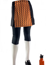 Exercise skirt to wear over favorite capris, leggings or shorts.