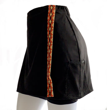 Catia III:  Women's Exercise Skirt with three pockets. Made-to-Measure.