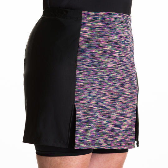 Women's fitness skirt, custom-fit, with three pockets