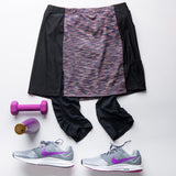 Women's fitness skirt with three pockets, custom-fit