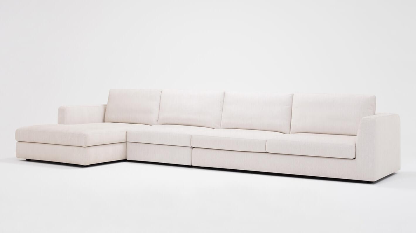 Cello 3-Piece Sectional Sofa with Chaise - Fabric