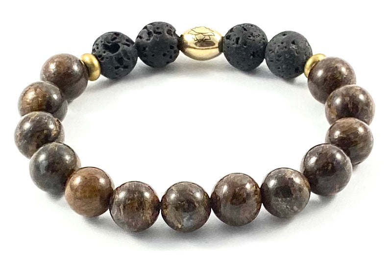 Semi-Precious Diffuser Stretch Bracelet - 10mm