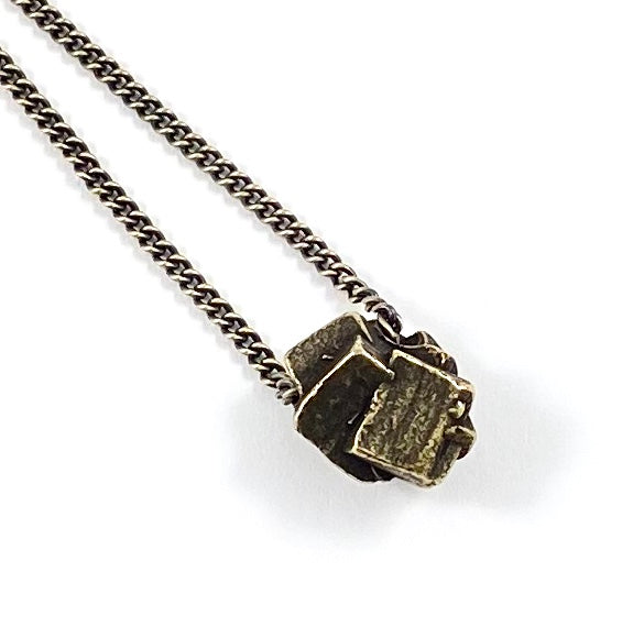 Organic Casting Collection - Pyrite Cluster Necklace