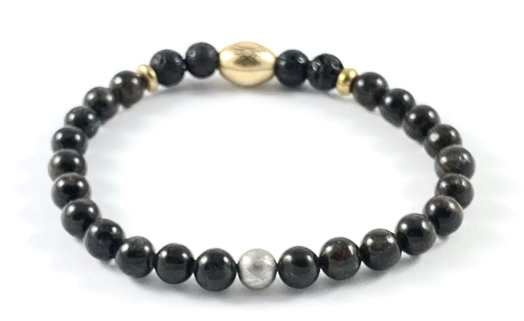 Meteorite Diffuser Stretch Bracelet - 6mm