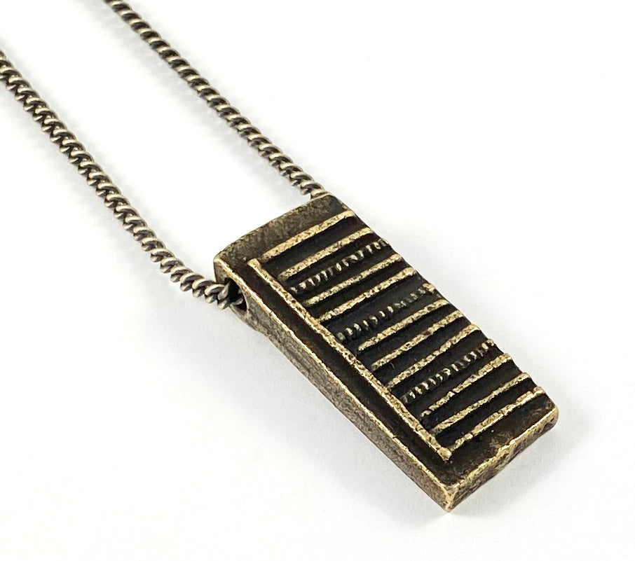 African Gold Weight Casting Collection -  Cotonou Necklace
