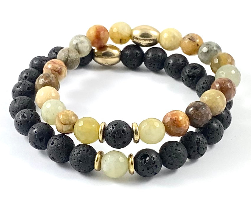 """You Complete Me"" Stretch Bracelet Set - Hers & Hers"