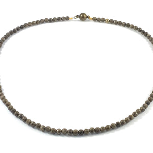 Semi-Precious Beaded Collar Necklace - 4mm