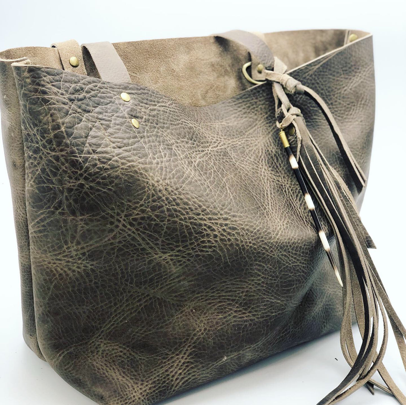 Crunchy Diva Designs Leather Tote Bag
