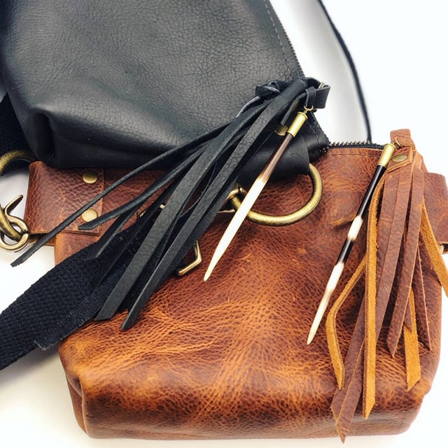 Crunchy Diva Designs Leather Hip Bag