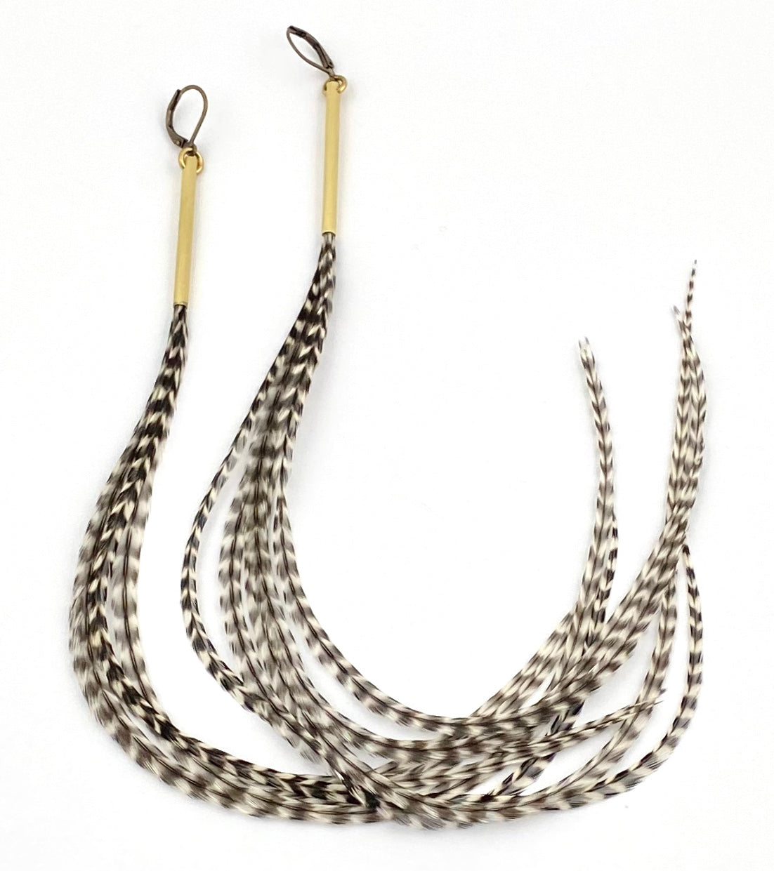 Fancy Rooster Feather Earrings