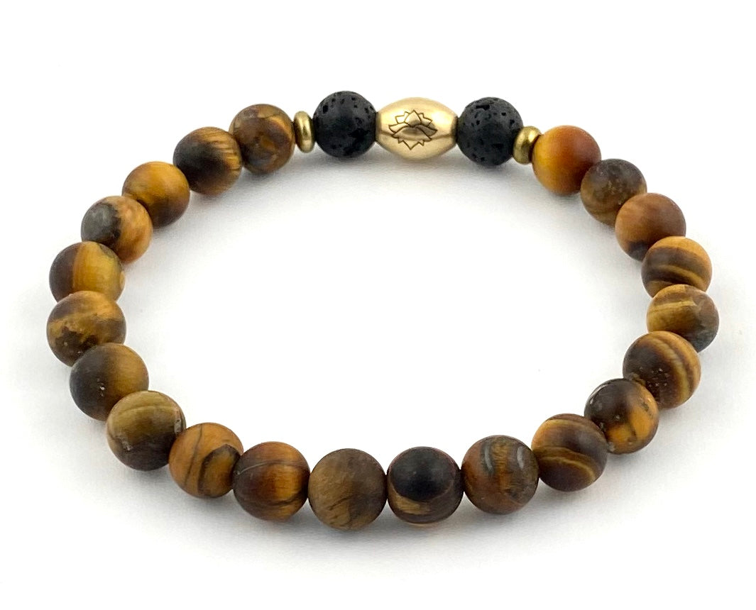 Men's Semi-Precious Diffuser Stretch Bracelet - 8mm