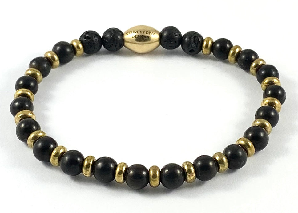 Shungite Diffuser Stretch Bracelet - 6mm