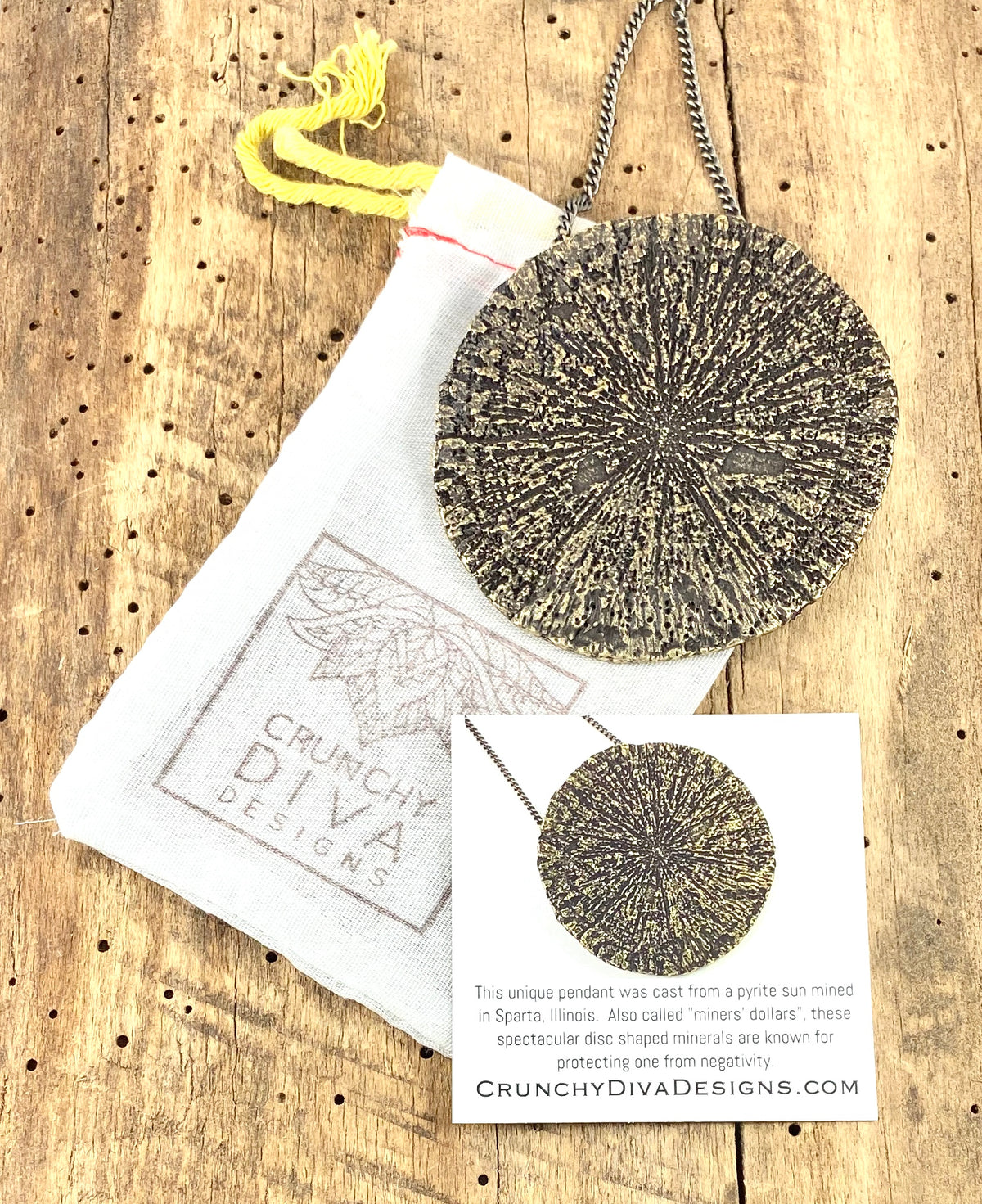Organic Casting Collection - Pyrite Sun Necklace