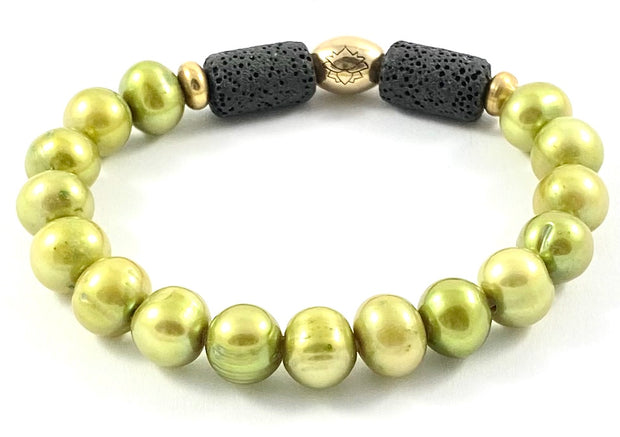 Fresh Water Pearl Diffuser Stretch Bracelet - 8mm