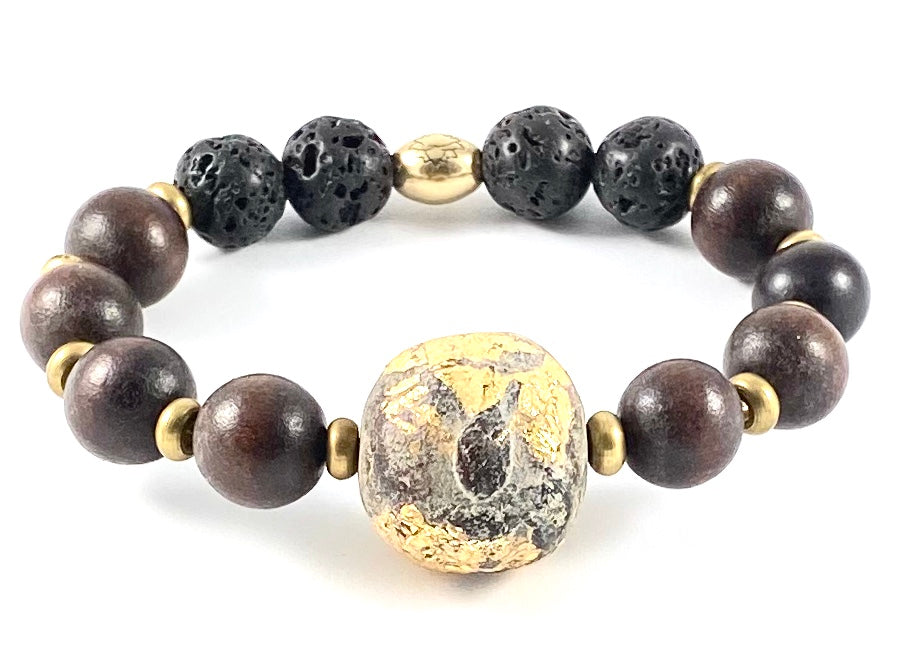 Clay Buddha Diffuser Stretch Bracelet - 12mm