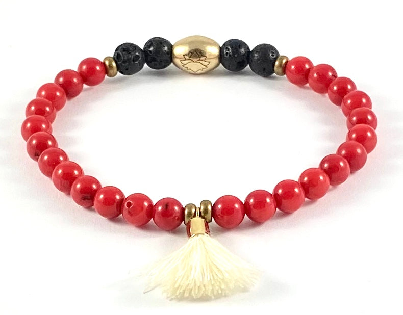Tassel Diffuser Stretch Bracelet - 6mm