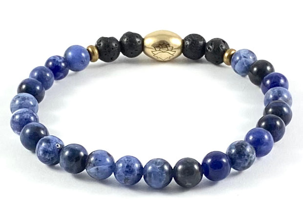 Semi-Precious Diffuser Stretch Bracelet - 6mm