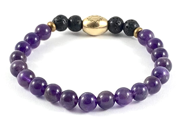 Kid's Semi-Precious Diffuser Stretch Bracelet - 6mm