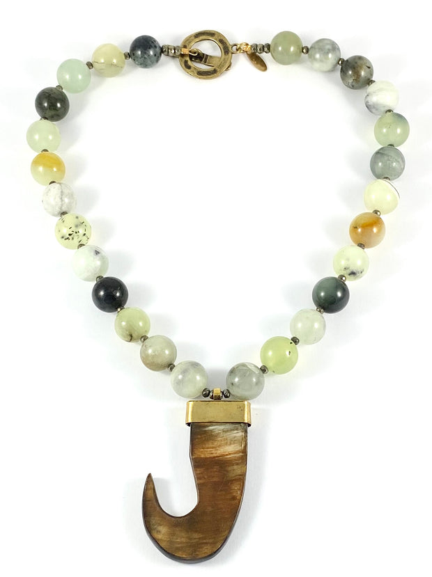 Sale OOK Agate with Hook Pendant Necklace