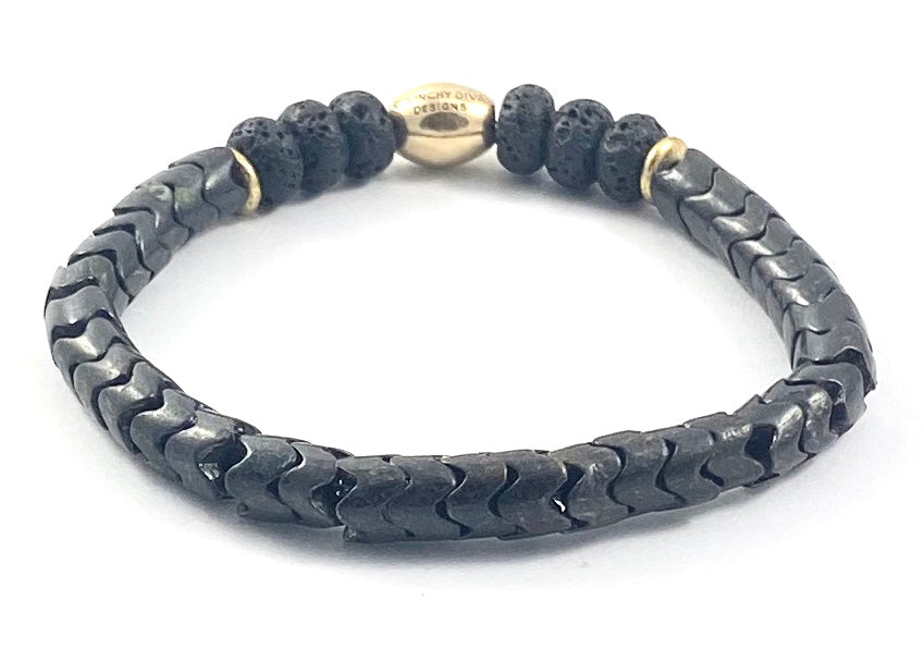 Snake Bead Diffuser Stretch Bracelet - 8mm