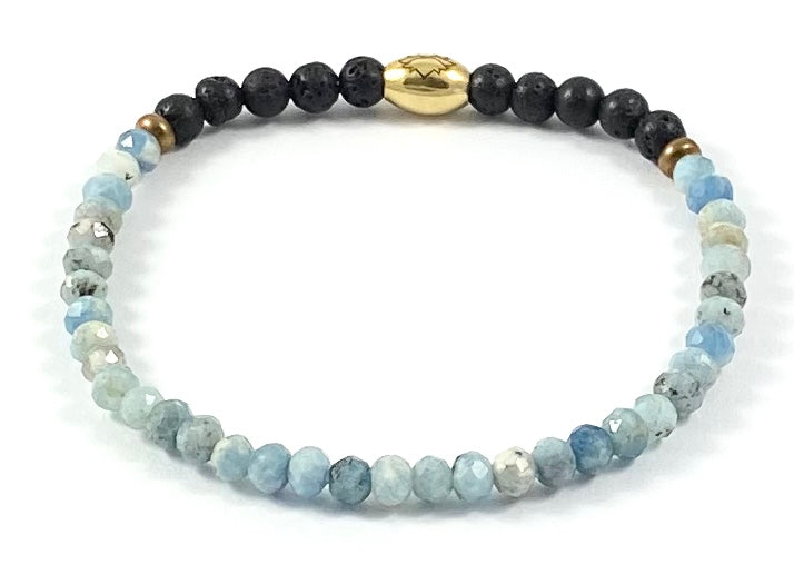 Semi-Precious Diffuser Stretch Bracelet - 4mm
