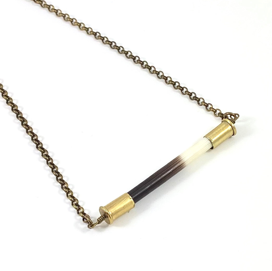 African Porcupine Quill - Short Horizontal Necklace