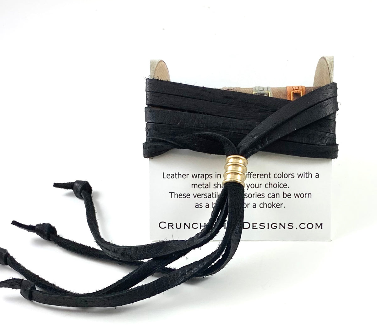 Black Leather Wrap - 5mm