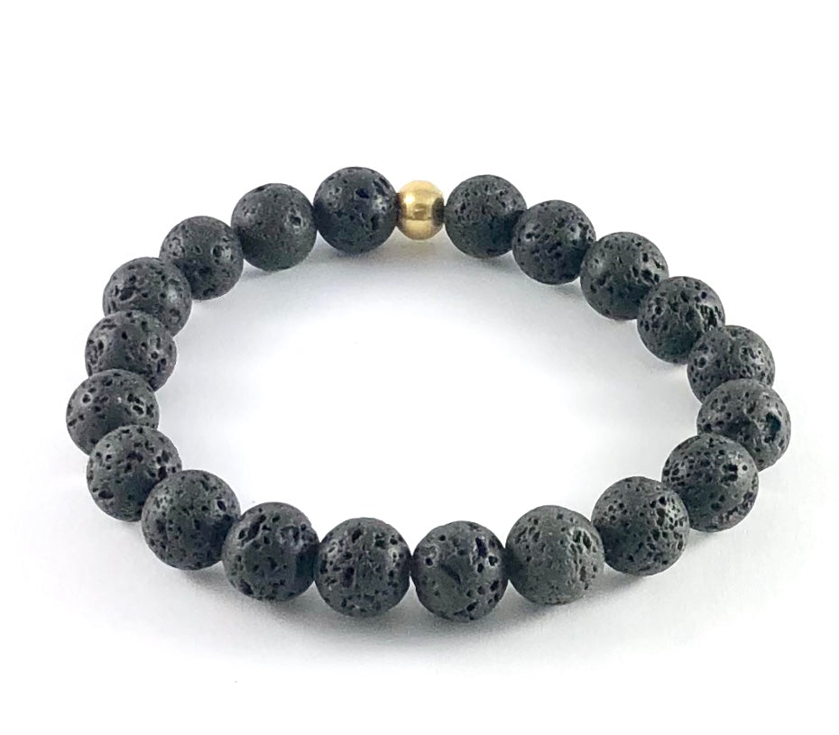 Men's Semi-Precious Stretch Bracelet - 10mm